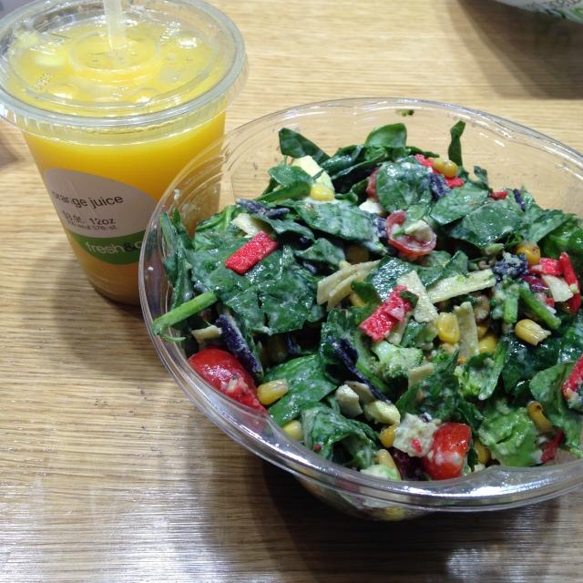 Almoço no Fresh&Co em NYC! Deli com saladas frescas à escolha super gostosas!