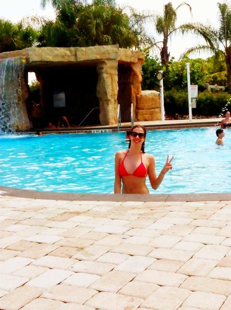 Piscina do condomínio Paradise Palms que ficamos no início da viagem!